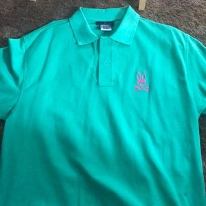Men's Psycho Bunny Polo size 8 XXL missing button